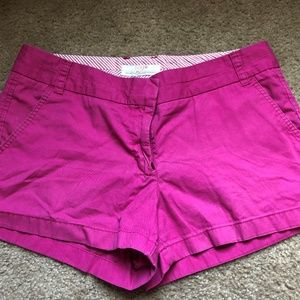 J Crew Pink Chino Shorts Size 10